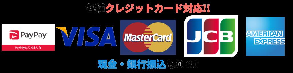 クレジットカードとPayPay決済も可能
